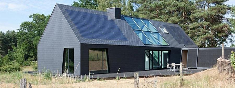 Toiture en ardoises avec panneaux solaires u2013 Eternit